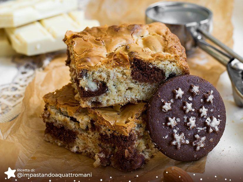 Blondies al Cioccolato Bianco e Biscotti