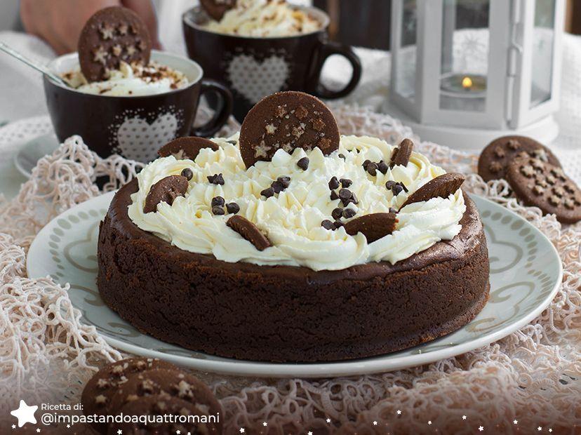 New York Cheesecake con Cioccolato e Pan di Stelle