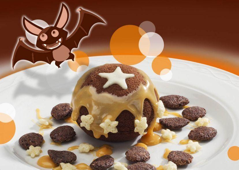 Zucca di MoonCake con crema di cioccolato bianco e zucca