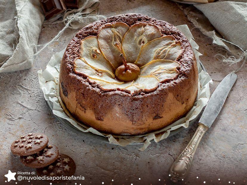 Torta Pan di Stelle, pere e cioccolato