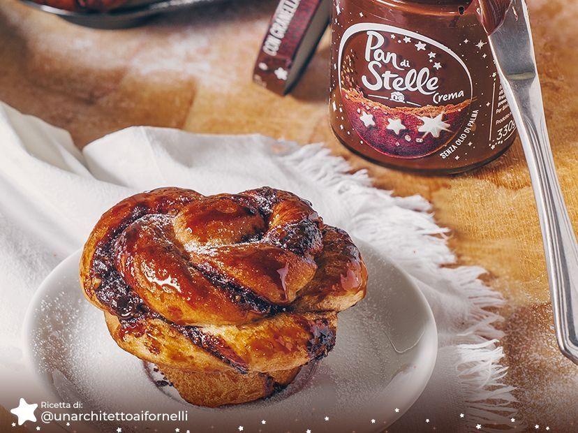 Girelle Integrali senza burro con Crema Pan di Stelle