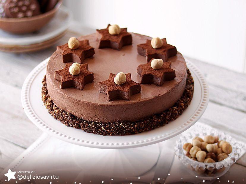 Mousse al cioccolato su streusel di Pan di Stelle